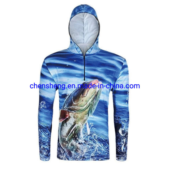 Custom Sportswear Clothes Dry Fit Anti UV Long Sleeve Shirt Fishing Jersey Wear, Mens Clothing, Sublimation Fishing Jacket