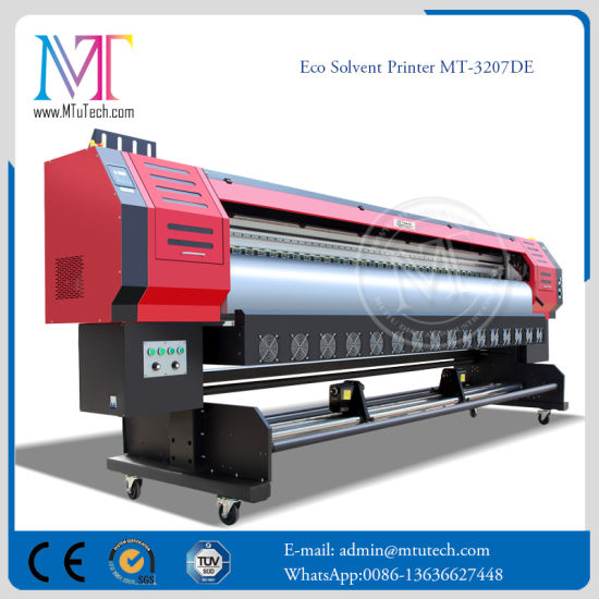 China 4 Colors 3 2m Wide Format Digital Eco Solvent Printing Machine