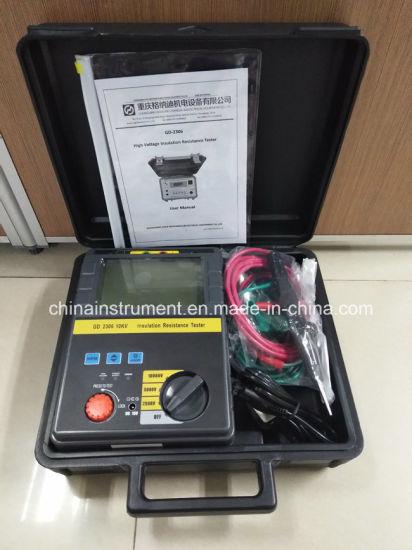 High Voltage 5kv 10kv Digital Insulation Resistance Tester Megger