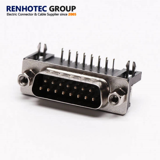 D Sub 15 Pin Port PCB Connector