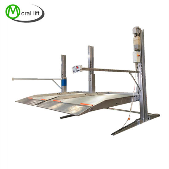 Double Car Lift for Car Repairing Shops and Large Parking Lots