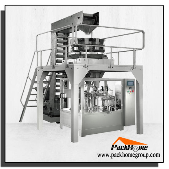 Full Automatic Rice Chips / Cracker Preformed Zipper Bag Packing Machine Equipment pictures & photos