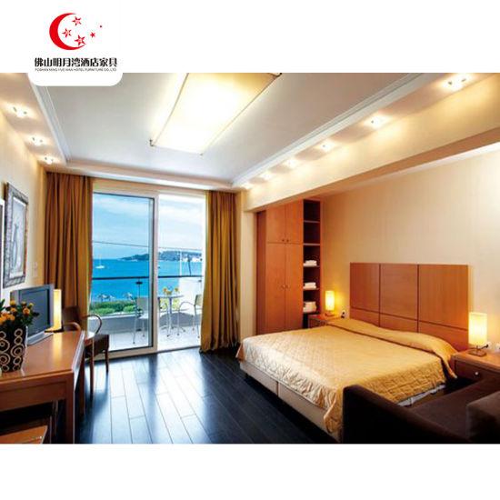 Wooden Frame Hotel Bed Room Furniture Bedroom Furniture Set