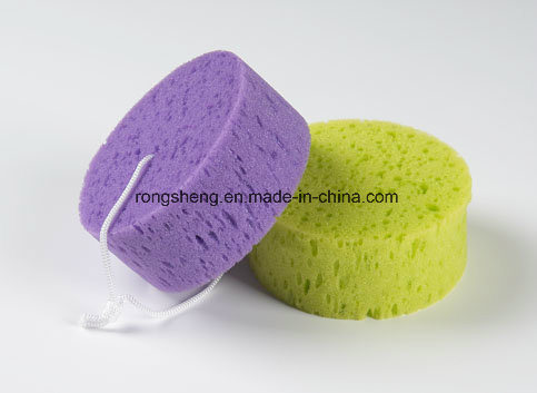 Special Beautiful Nice Bubble Round Bath Sponge with Filter Sponge pictures & photos