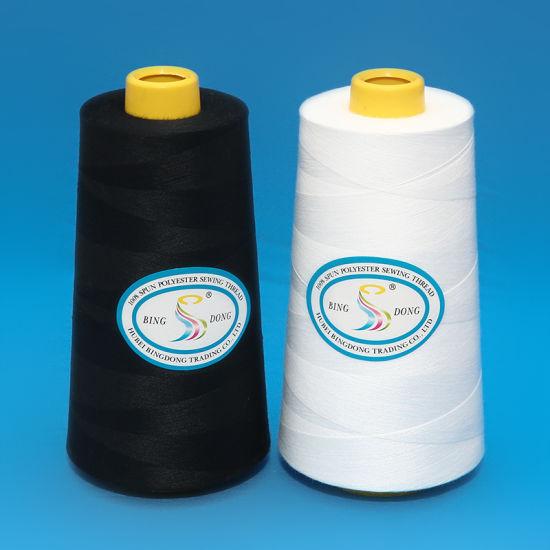20/7 1kg/Cone Raw White Bag Closing Thread, 100% Polyester Sewing Thread