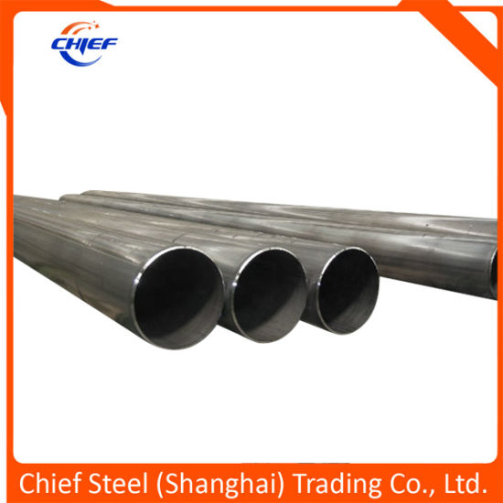 Natural Gas or Oil Transportation Line Pipe of ERW/Hfw Carbon Steel Pipes API5l / ASTM A53 / ASTM A106b /As1163 / En10219 pictures & photos