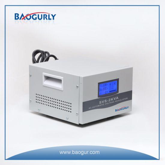 Single Phase LCD Display Svs-2000va Servo Motor Voltage Regulator