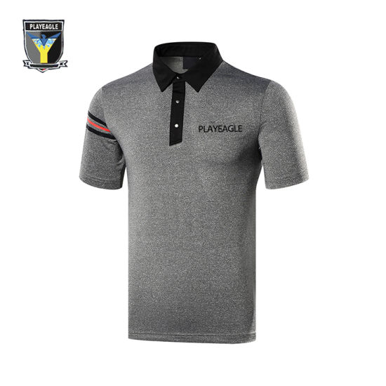 Customized PE Golf Polo Short Sleeved Shirt pictures & photos