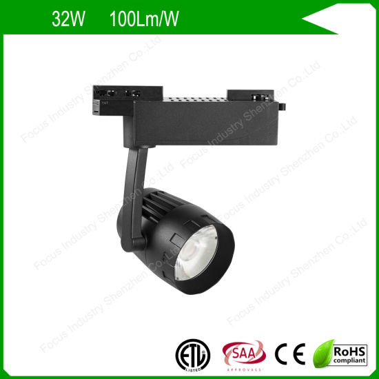 ETL/UL SAA 2/3/4 Wires Anti Glare LED Track Light Spot for Shop/Retail Stores
