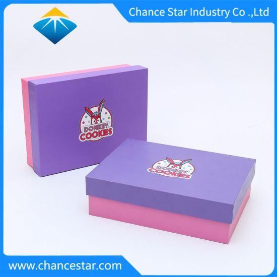 Custom Printed Paper Cardboard Packaging Food Gift Box for Cookie, Cake, Chocolate