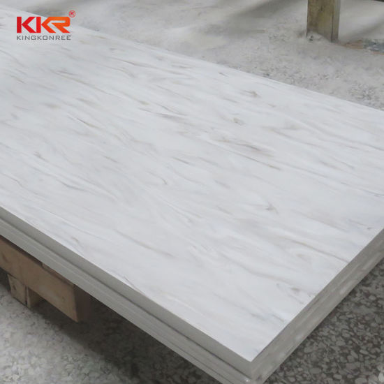 White Marble Countertop Material Acrylic Solid Surface Corian