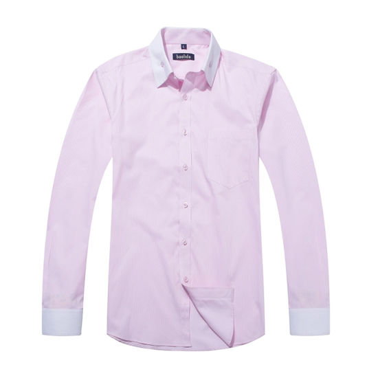 Ailored Bespoke Custom Logo Business Red and White Striped Shirts