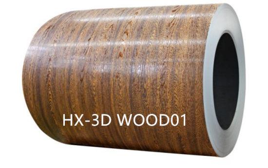 3D Wooden PPGI Coated Galvanized Steel Coils