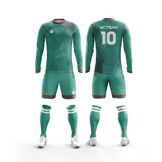 eeb1324fa1d China Sublimated Quick Dry Long Sleeve Football Jersey - China ...