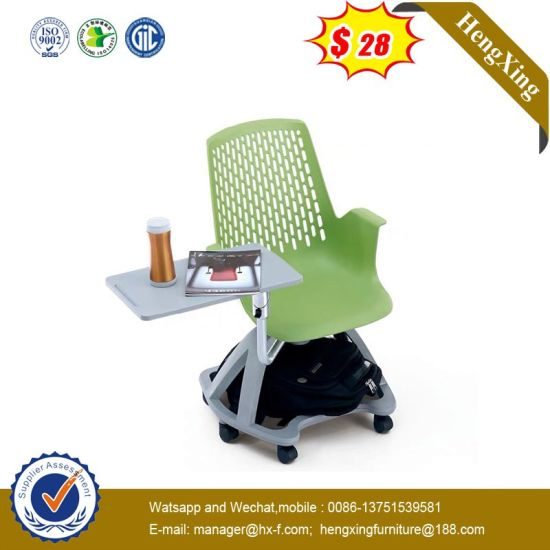 New Design School Furniture Training Plastic Swing Chair with Writing Pad pictures & photos