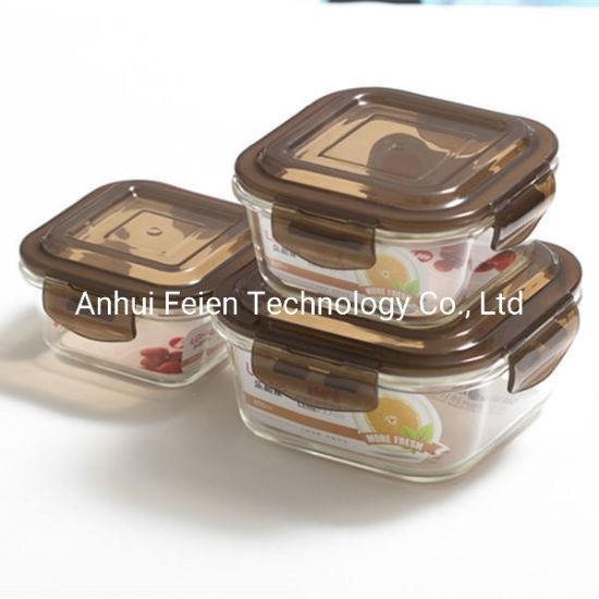 Housewares High Borosilicate Glass Storage Food Container Set