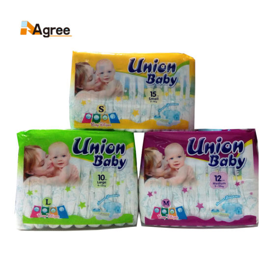 China Factory Cheap Printed PE Film Disposable Baby Diaper