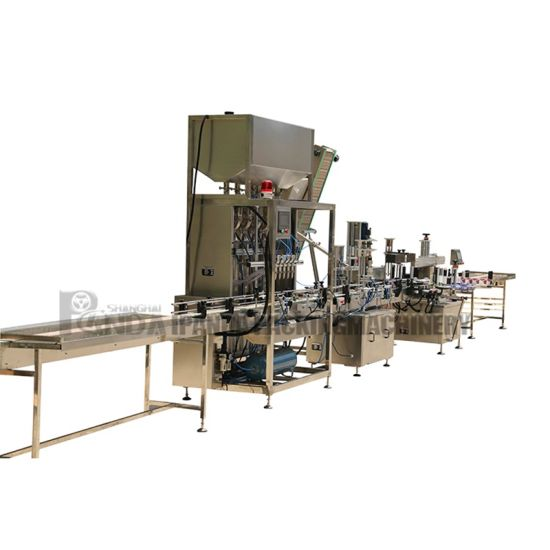 Automatic Tomato Paste Glass Bottling Filling Machine Line