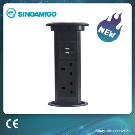 Motorised Pop up Power Outlet for Kitchen, Desk, Office