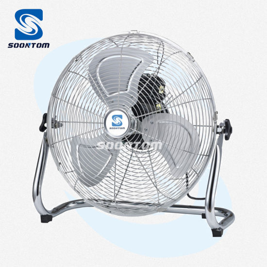 "220V Single Phase Metal Floor Fan 20"" Ventilation Fan"