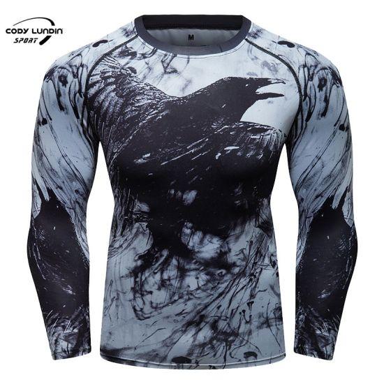 New Fashion Design Long Sleeve Rashguard for Men Full Printing T-Shirts