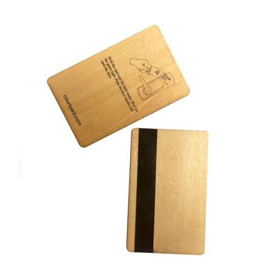 Customized Bamboo Business Card Name Card Blank Business Card