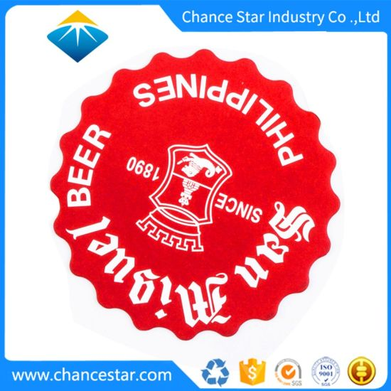Custom Round Paper Cardboard/Pulpboard Drink Coasters