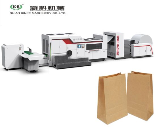 Mango Protection Square Bottom Paper Bag Making Machine Produce The Shopping Paper Bags for Market and Shopping Mall