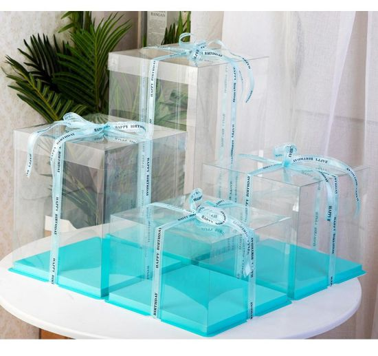 Factory Customized High-End Transparent Box Transparent Cake Box, Suitable for Cakes, Desserts, Snacks, Toys, Gifts, Fashion Shoes, Fashion Bags, Perfumes, etc.