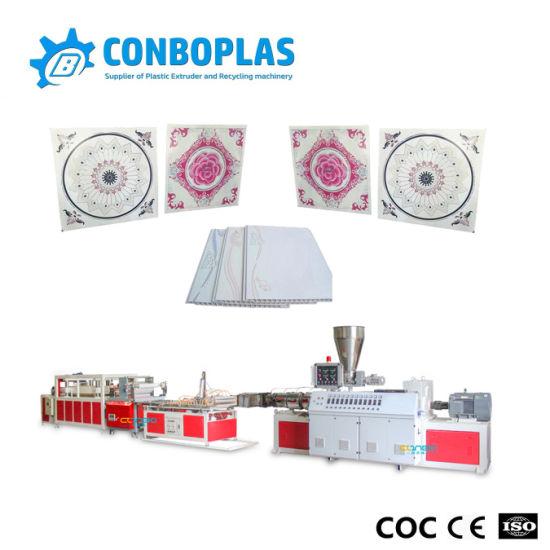 300mm Hollow Plastic PVC Ceiling Panel Extrusion Line