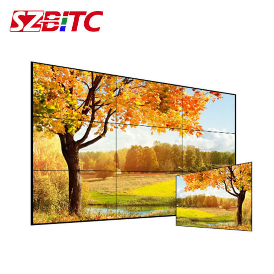 "55"" LCD Video Wall HD Monitor Splicing Screen"
