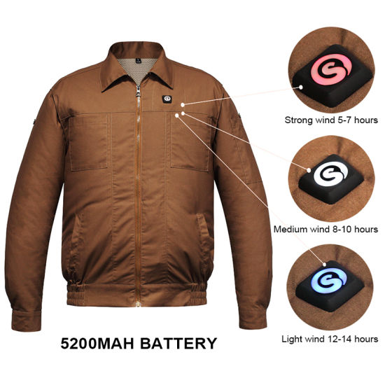 SAVIOR Air Conditioning Work Clothes with 5200mAh Battery Cooling Fan
