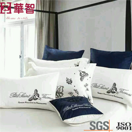 High Quality 400tc Cotton Embroidery Duvet Cover Sets pictures & photos