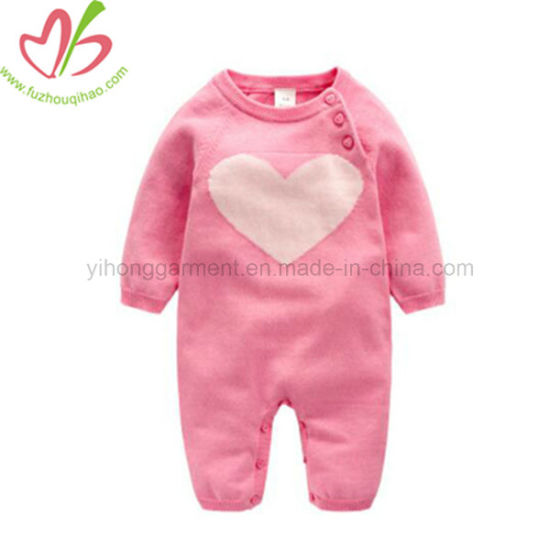 50b2eeb6db05 China Cute Baby Girl Winter Onesie with Bow Baby Garment - China ...