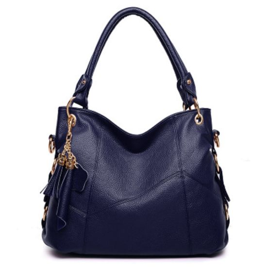 Womens Fashion Bag PU Leather Hobo Tassel Handbag Shoulder Bag Crossbody Bag with Detachable Strap Esg13706