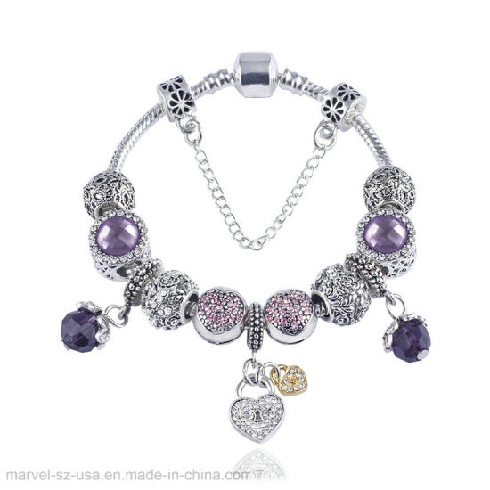 Purple Amethyst Chain Bracelet for Women