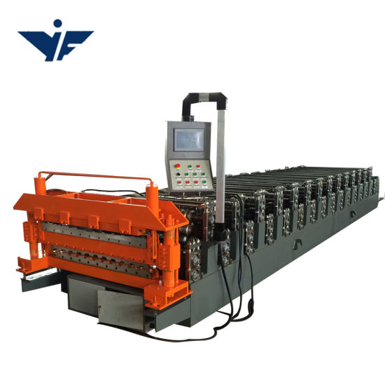 Galvanized Double Layers Roofing Sheet Roll Forming Machine in Tile Making Machine