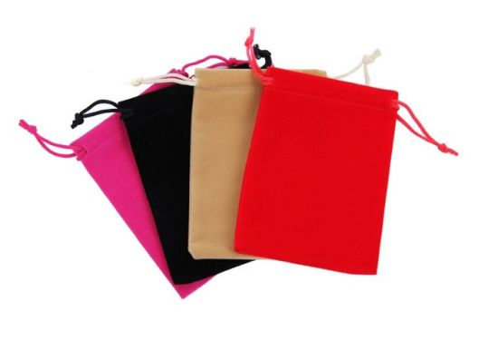 Hot Sales Colorful Velvet Drawing Bag Pouch pictures & photos