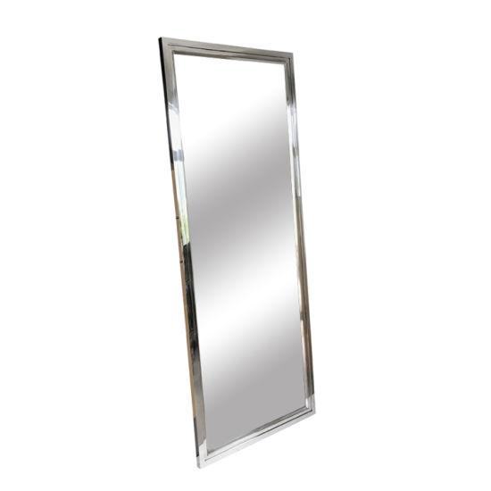 Wholesale Contemporary Modern Rectangle Silver Metal Wall Mirror