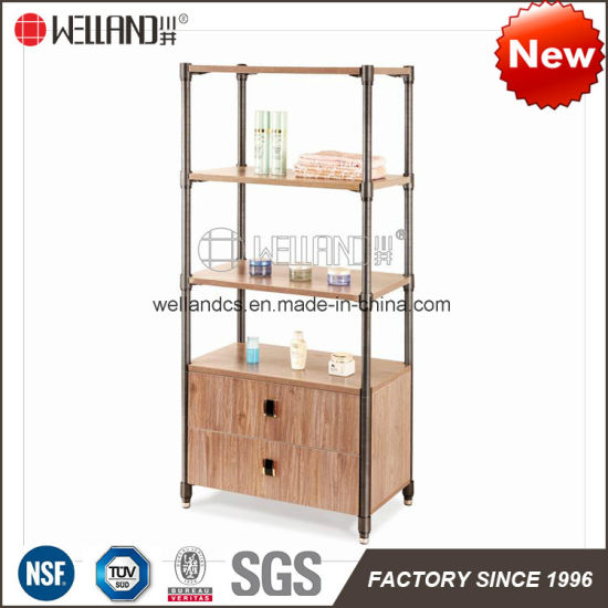 China NSF Certificate Easy Assemble Steel Wooden Cabinet