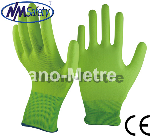 Nmsafety Colorful Gloves PU Printed Garden Work Gloves