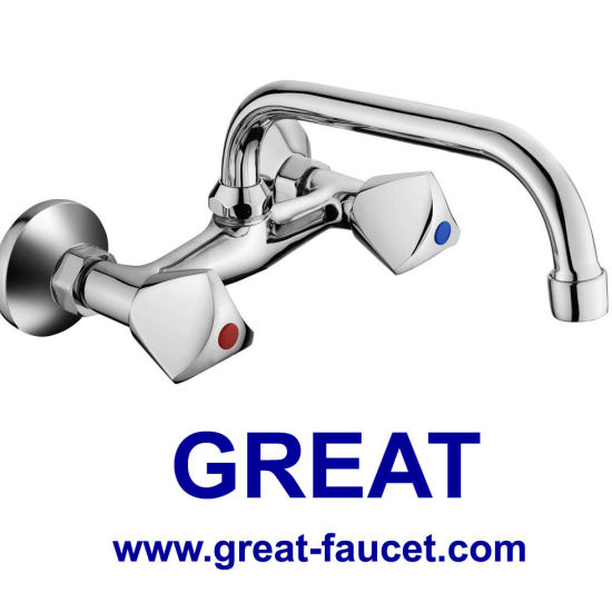 China Double Handle Wall Mounted Kitchen Faucet Gl048x03u China