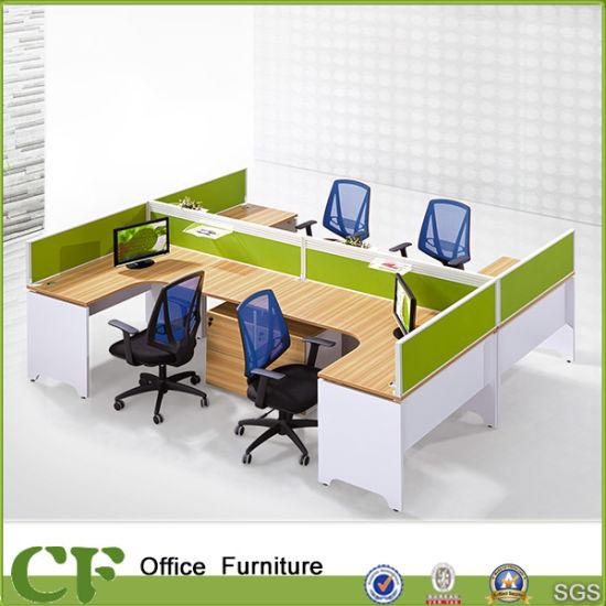 office desk cubicle. Long-Lasting U Shape 4 Seats Office Desk Cubicle CF-P10302