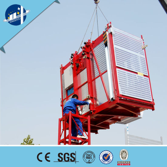 Construction Material Hoist/Material Elevator/Building Construction Lift  with Double Cage