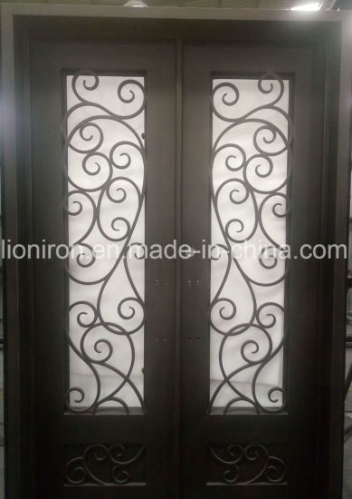 China Premium Quality Decorative Iron Entry Front Doors For New