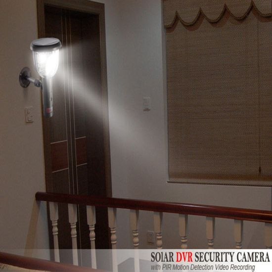 HD 720p Garden Light Home Security Light Solar PIR Camera DVR pictures & photos