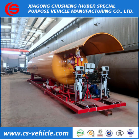 40m3 LPG Skid Mounted Stations 40cbm LPG Filling Gas Plant for Gas Cylinder