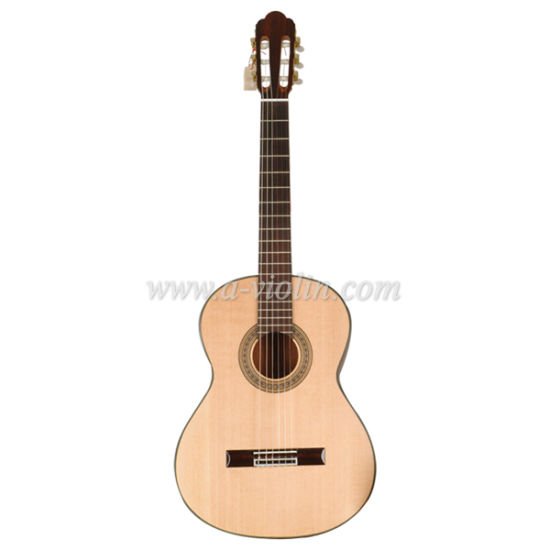 "39"" Solid Spruce/Cedar Top Handcraft Classical Guitar (ACM10) pictures & photos"
