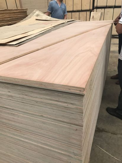 China 18mm Poplar Core Furniture Grade Commercial Plywood
