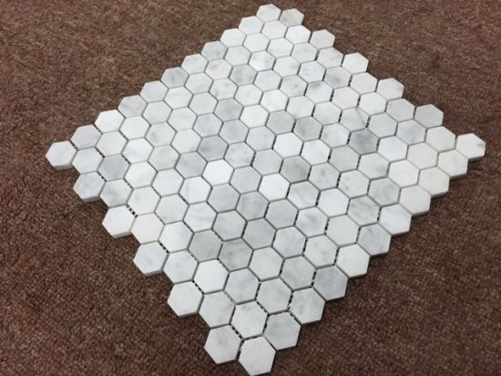 Italy White 1′′hexagon Marble Mosaic Wall Tile pictures & photos